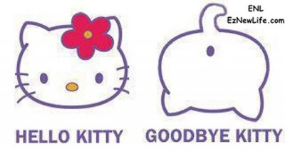 Hello Kitty & Goodbye Kitty。